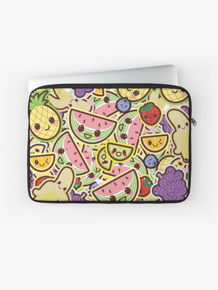 Kawaii Fruit Salad Cute Design Wallpaper Laptop Sleeve By Susurrationstud Redbubble