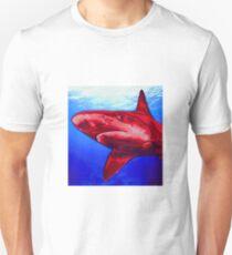 Blue and Red Shark art T-Shirt