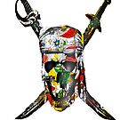 Canal flowers pirate skull bywhacky by bywhacky