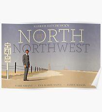 Póster Cartel de la película alternativa North by Northwest
