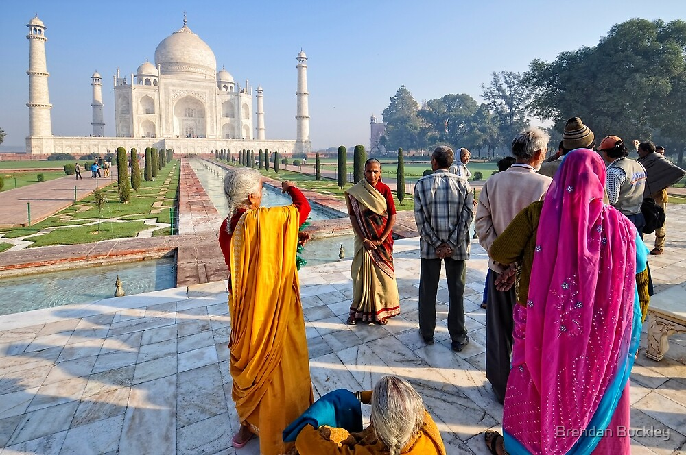 Tourists at the Taj by Brendan Buckley