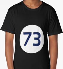 73 The Best Number Big Bang Numbers Puzzle Theory Long T-Shirt