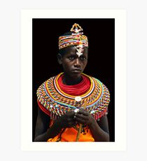 SAMBURU GIRL - KENYA 2 Art Print