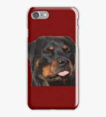 Cute Rottweiler With Tongue Out iPhone Case/Skin