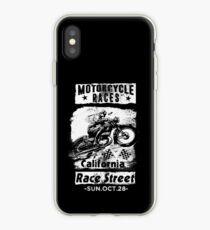 Motorcycle Races Biker T-Shirt iPhone Case