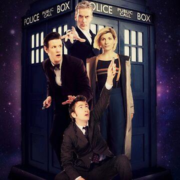 Doctor Who (Funda nórdica, funda de teléfono, etiqueta, etc.) de thatthespian