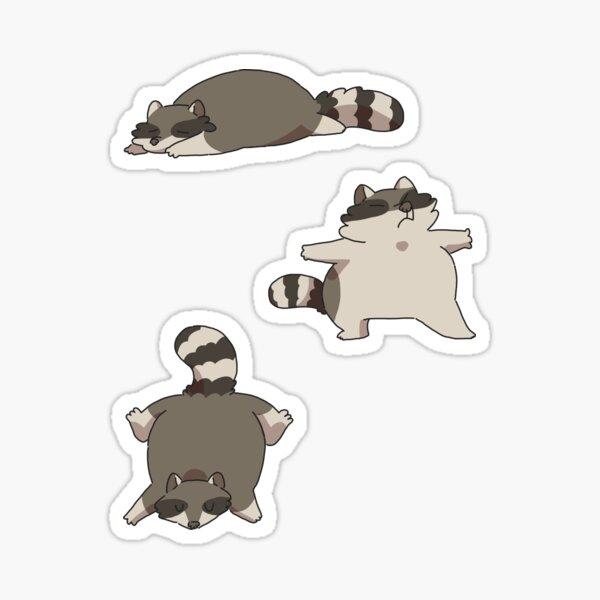 Goofy Raccoons  Sticker