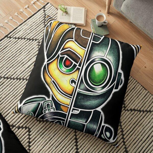 Metallic Ratchet And Clank Floor Pillow