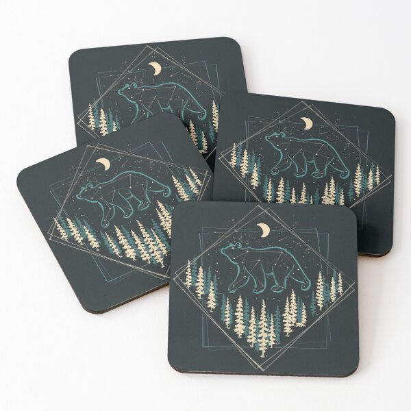 The Heaven's Wild Bear Coasters (Set of 4)