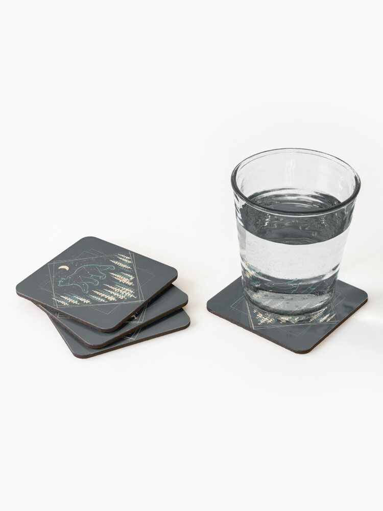 Alternate view of The Heaven's Wild Bear Coasters (Set of 4)