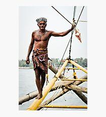 Chinese fishing net operator Photographic Print
