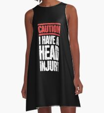 Head Injury Get Well Gift Concussion A-Line Dress