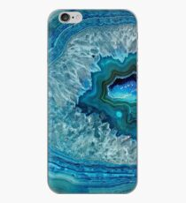 Hübsches aquamarines Aqua-Türkis-Geode-Kristall-Muster iPhone-Hülle & Cover