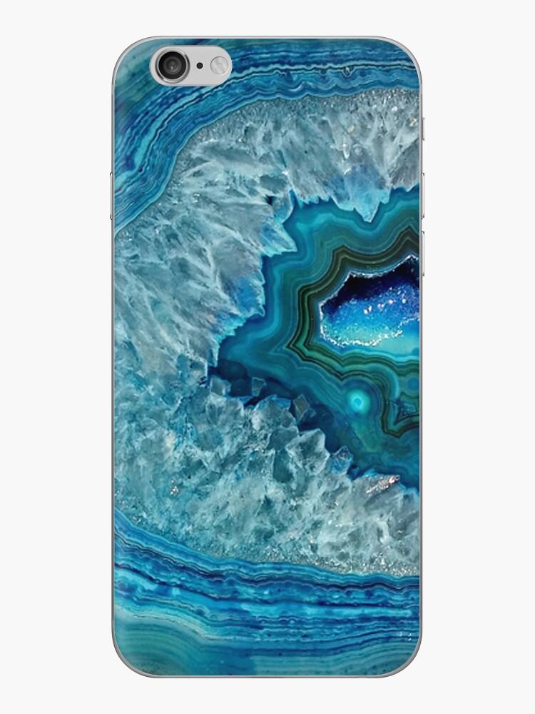 Hübsches aquamarines Aqua-Türkis-Geode-Kristall-Muster von LC Graphic Design Studio