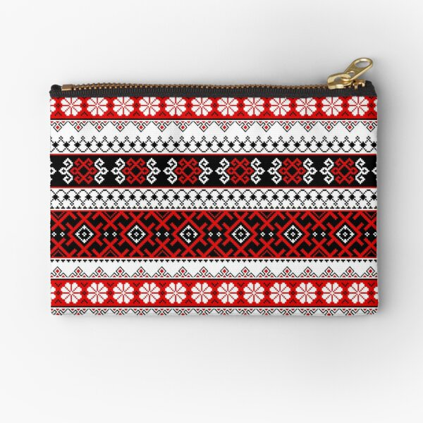 Vyshyvanka Ukrainian Colorful Embroidery With A Heritage Zipper Pouch