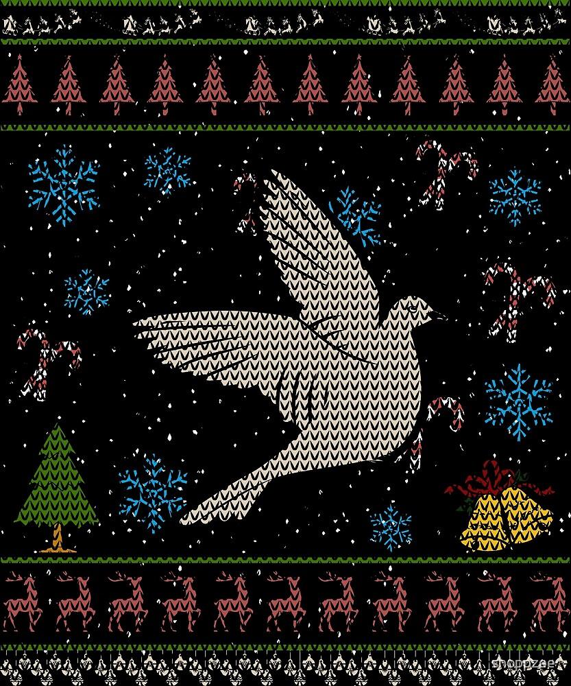 Dove Bird Christmas Ugly Holliday Shirt by shoppzee