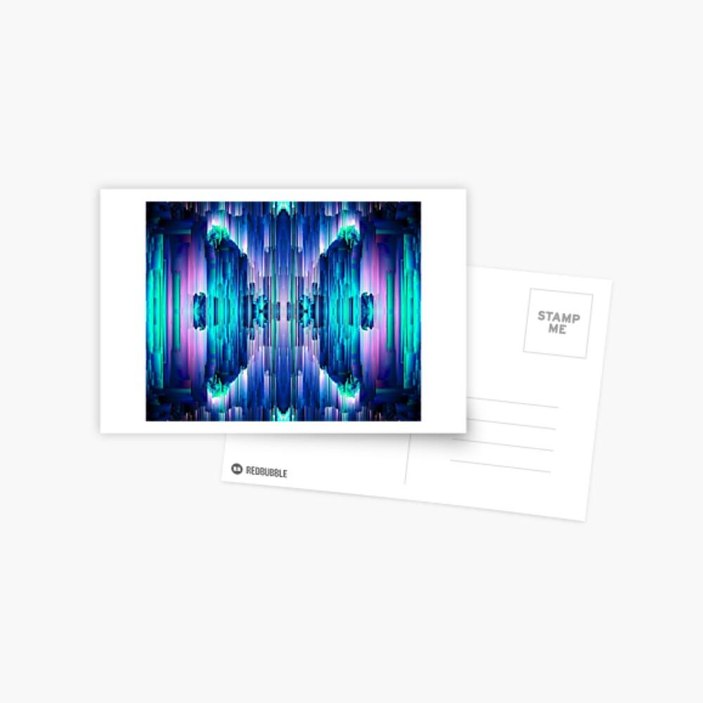 Cavernous Glitch - Abstract Pixel Art Postcard