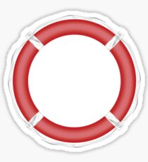 Red Life Buoy  Sticker