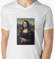 PIXEL CLASSIC - Mona Lisa Men's V-Neck T-Shirt