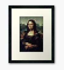 PIXEL CLASSIC - Mona Lisa Framed Print