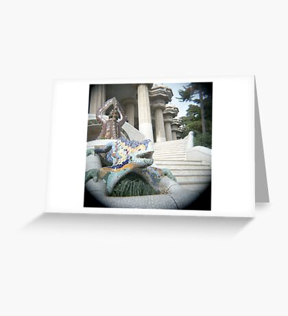 Gaudi's Lizard Greeting Card