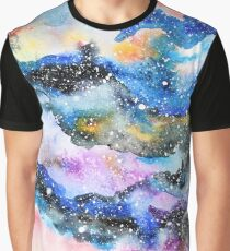 Watercolor galaxy illustration Graphic T-Shirt