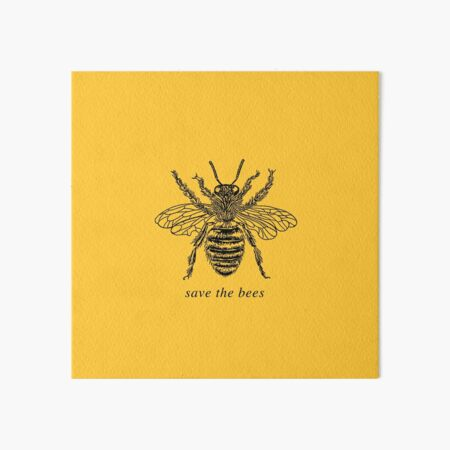 SAVE THE BEES Art Board Print