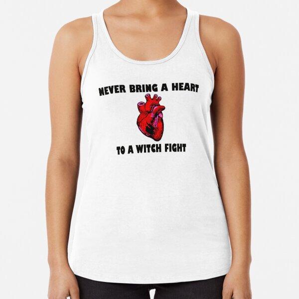 Witch Fight Heart in Black Racerback Tank Top