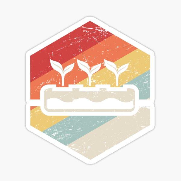 Retro Hydroponics Farming Farmer Sticker
