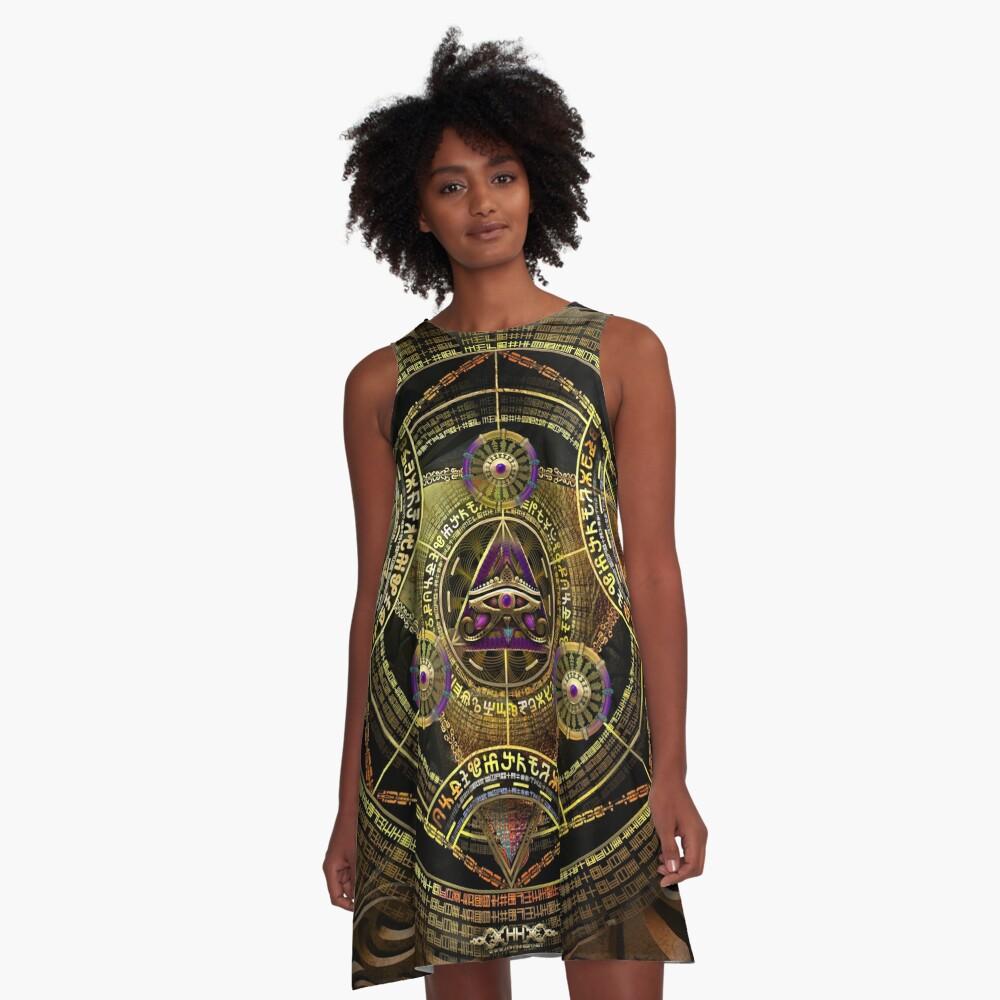 Arkane Opulenz A-Linien Kleid