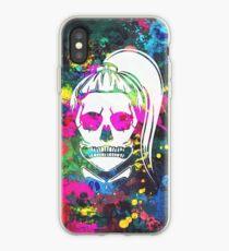 Born This Way Neon Paint Skull iPhone Case