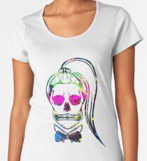 Born This Way Neon Paint Skull Women's Premium T-Shirt