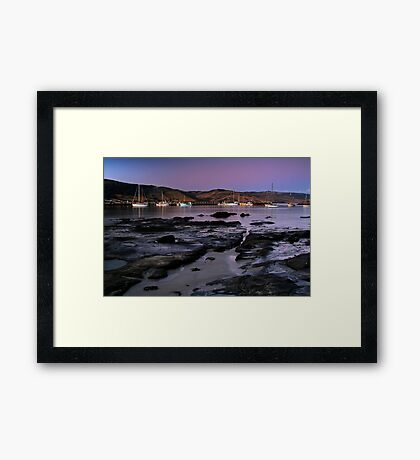 Twilight Apollo Bay Framed Print