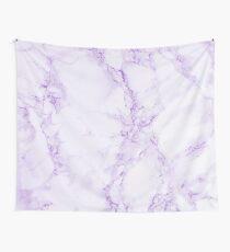 Lila violetter und weißer Marmordruck Wandbehang