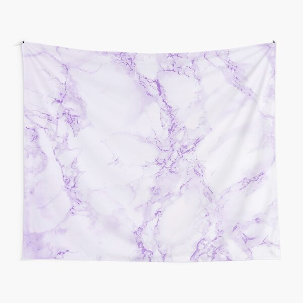 Purple violet and white marble print Tapestry
