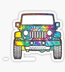 Tie Dye Jeep 2 Sticker
