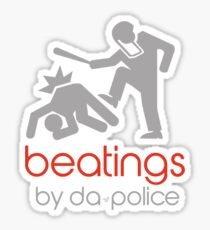 POLICE BEATINGS by Tai's Tees Sticker