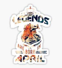 LEGENDS are born in APRIL (Pop Art Tiger) Sticker