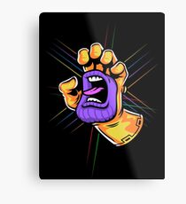 Screaming Gauntlet Metal Print