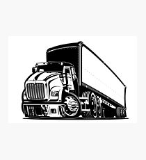 Cartoon semi truck Photographic Print