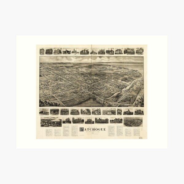 Bird's Eye View of Patchogue, New York (c1905) Art Print