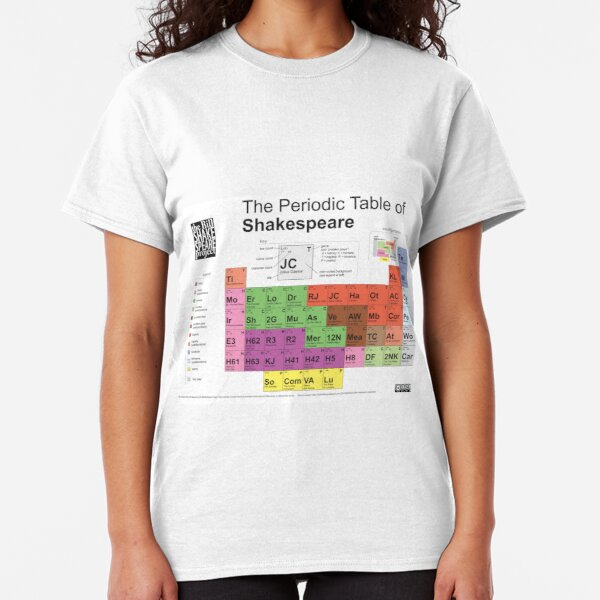 Periodic Table of Shakespeare [old version] Classic T-Shirt