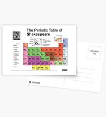Periodic Table of Shakespeare [old version] Postcards