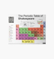 Periodic Table of Shakespeare [old version] Art Board