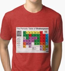 The Periodic Table of Shakespeare (v2) Tri-blend T-Shirt