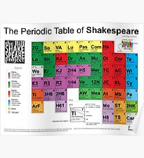 Das Periodensystem von Shakespeare (v2) Poster