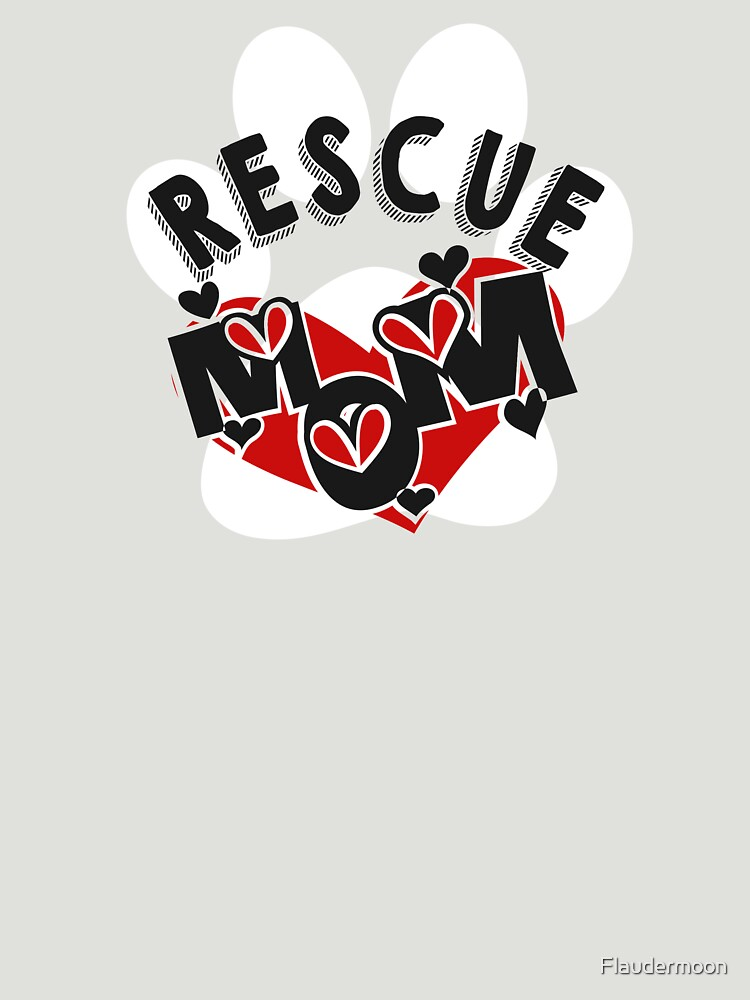 Rescue Dog Mothersday paw and hearts Shirt by Flaudermoon