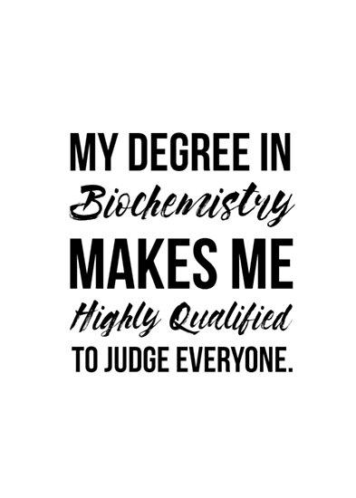 Biochemistry Degree\