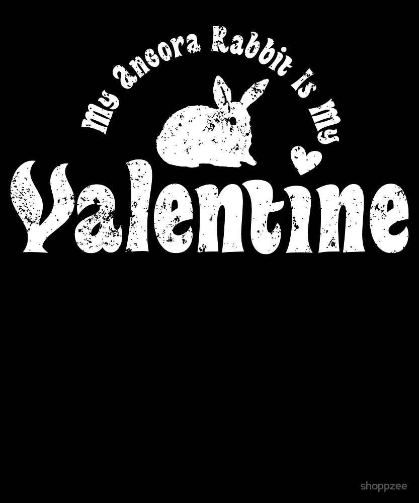 My Anti Valentine Pet Angora Rabbit by shoppzee