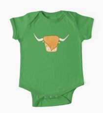 Fluffy Cows One Piece - Short Sleeve